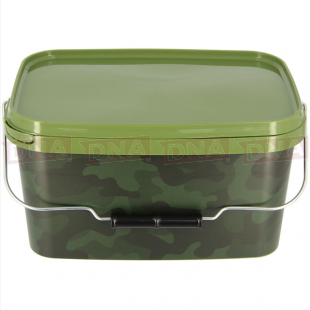 5 Litre NGT Square Camo Bucket with Metal Handle Main