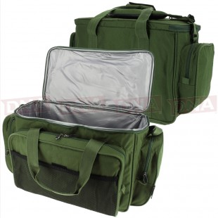 Green Insulated Carryall Bag Front & Back View