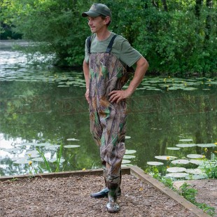 PVC Camo Waterproof Chest Waders in Sizes 7 8 9 10 11 12