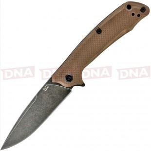 ABKT Elite Shadow Scavenger Liner Lock Knife Tan G-10