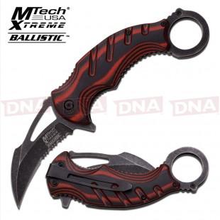 Blackwashed-Spring-Assisted-Karambit-Knife-Red