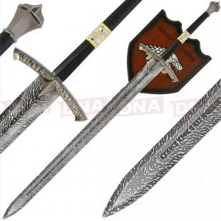 Single Straight Ice Sword with Plaque
