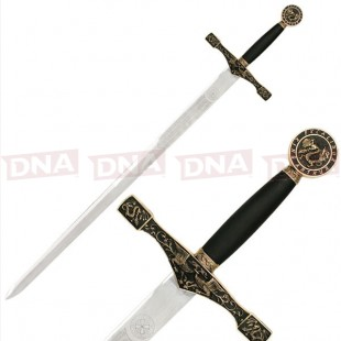 C-900G Medieval Sword with Brass Handle