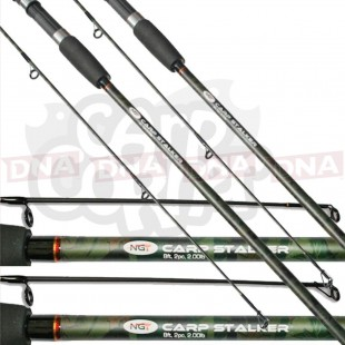 2x NGT 8ft, 2pc Camo Stalker Fishing Rods