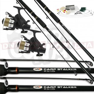 Carp Stalker 2 Rod Fishing Bundle with Tackle