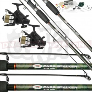 Carp stalker Fishing Set with Reels and Tackle