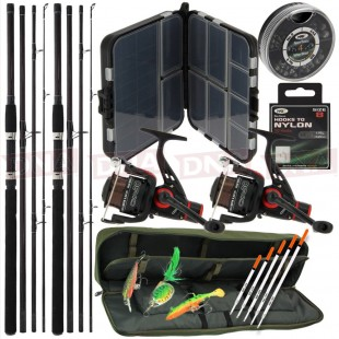 Carp Travel Set Up with Rods and Reels Plus Tackle