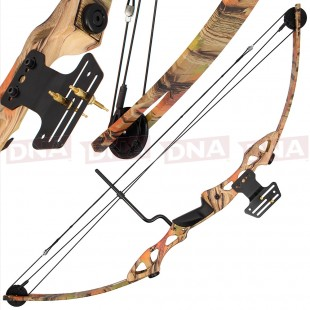 Camo 55lb Compound Bow
