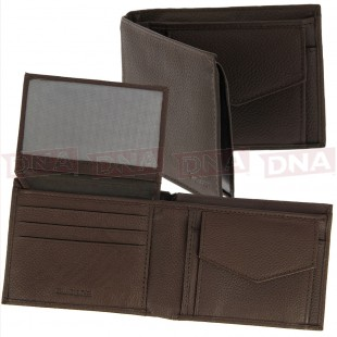 Luxury Coarse Brown Leather Wallet Main Image