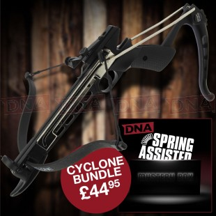 Cyclone Crossbow Set and Spring Assisted Mystery Box