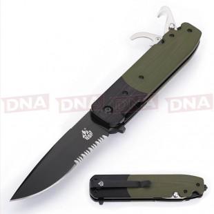 QSP Daeva Ball Bearing Lock Knife - Serrated