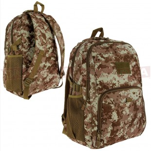 Golan™ 40L 800D Tactical Backpack - Desert Digital Camo Front and Back