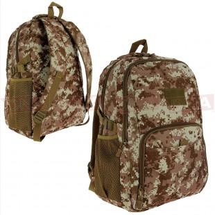 Golan™ 40L 800D Tactical Backpack - Desert Digital Camo Front and Back