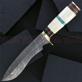 Damascus DM1255 Turquoise Hunter Fixed Blade Knife Sheath
