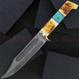 Damascus DM1256 Burnt Bone Bowie Knife