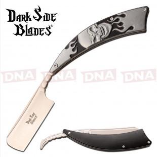 Dark Side Blades DS-082GY Straight Razor - Skull Design