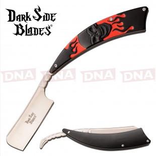 Dark Side Blades DS-082RD Straight Razor - Red Skull Design