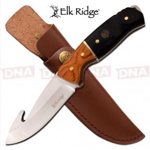 Elk Ridge Dual Tone Wooden Handled Fixed Blade Knife