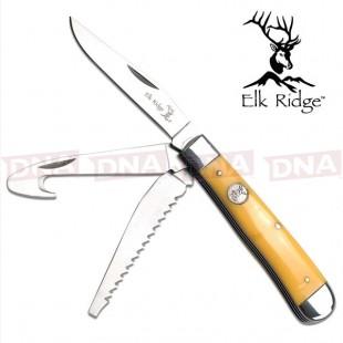 Elk Ridge Gentleman's Tri-Blade Knife - Delrin Bone