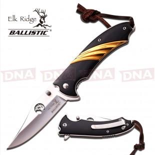 Elk Ridge Showman's Spring Assisted Folding Knife - Gold