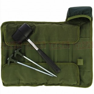 NGT Bivvy Peg Set with Mallet in Roll Up Case