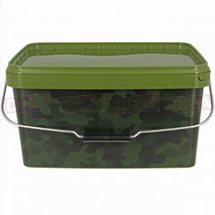 NGT 12.5L Square Camo Bucket with Metal Handle Main