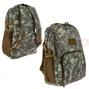 Golan™ 40L 800D Tactical Backpack - Urban Digital Camo Front and Back