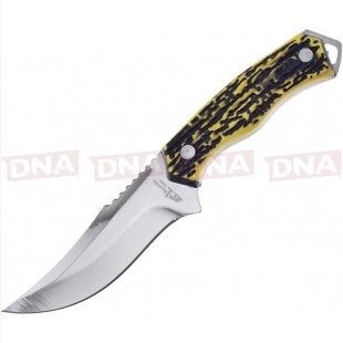 Frost Cutlery FBKH017IS Imitation Stag Handle Bowie Open