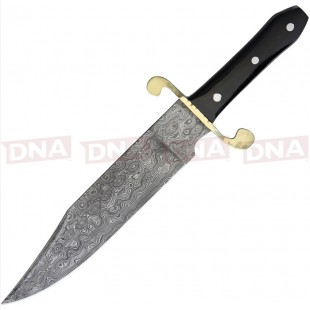 Frost Cutlery FJRS005DBH Damascus Bowie Fixed Blade Knife