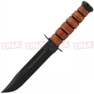 Full Size Plain Edge Ka-Bar USMC Knife