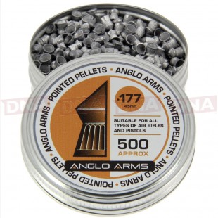2X TINS OF ANGLO ARMS .177 POINTED PELLETS