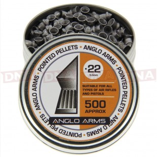 2x Tins Of Anglo Arms .22 Pointed Pellets