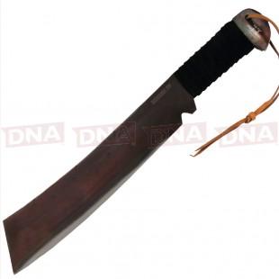 Gil Hibben IV Machete Knife With Leather Sheath