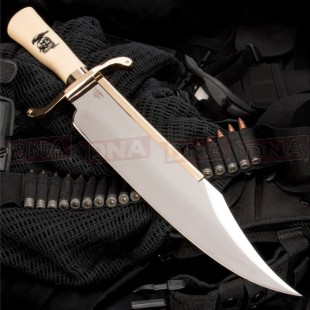 Gil Hibben Expendables 2 Bowie Knife With Leather Sheath