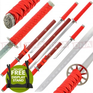 Red Golan 3Pc Straight Sword Set