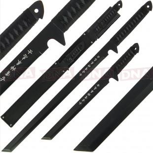 Golan Twin Black Ninja Sword Set