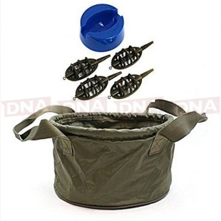Groundbait Mixing Bowl with 4+1 Method Feeder Set