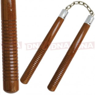 Hardwood-Round-Brown-Nunchaku