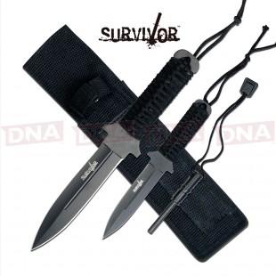 Survivor HK-1035 Double Dagger Fixed Blade Set