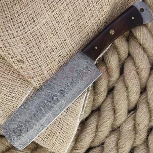 Damascus DM1265 Hammer Cleaver Damascus Fixed Blade