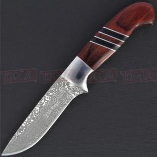 Elk Ridge ER-200-20BR Faux Damascus Fixed Blade Knife