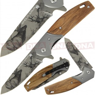 Anglo Arms 375 Deer Design Lock Knife