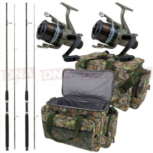 Lineaeffe Camo Reel Carp Fishing Set with Rods and Bag Main