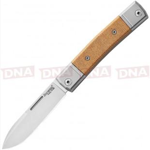 Lion Steel LSTBM2CVN BestMan Slip Joint Micarta EDC Knife Open
