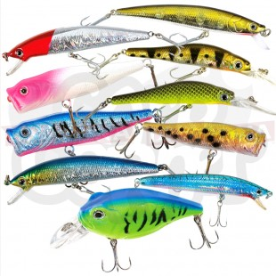 Colourful 10pc Sea / Coarse Lures Selection