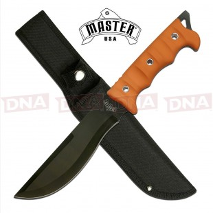 Master USA MU-20-02OR Large Recurved Fixed Blade in Orange