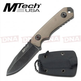 MTech USA MT-20-30 Clip Point Mini Survival Fixed Blade Knife