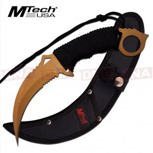 MTech Gold Karambit Fixed Blade Knife