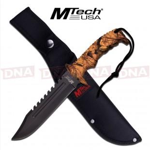 MTech Clip Point Bowie Knife - Autumn Camo