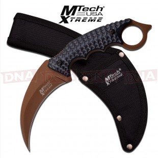 MTech Fixed Blade Karambit with Two Tone G10 Handle